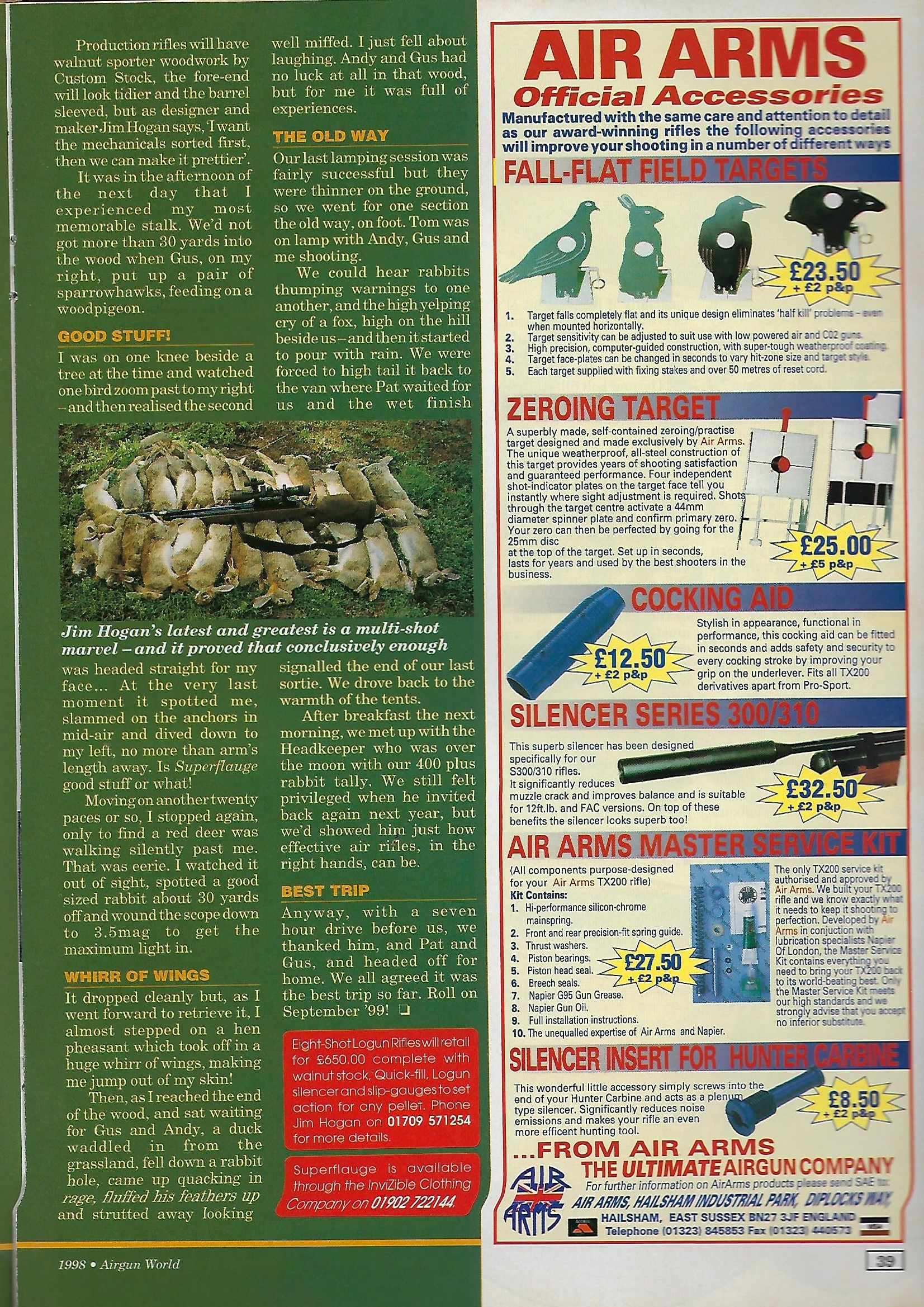 AGW - NOVEMBER 1998 - AA ACCESSORIES AD.