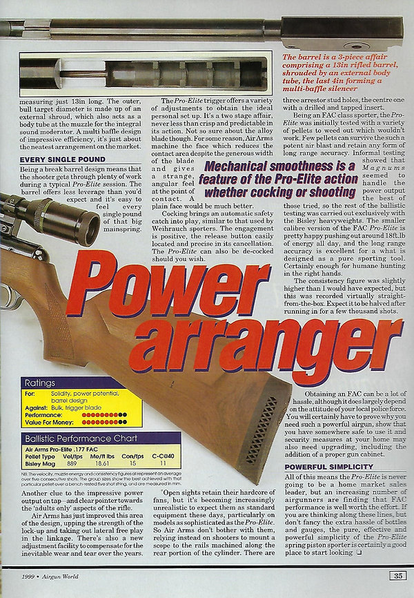 AGW - JANUARY 1999 - PRO ELITE REVIEW -