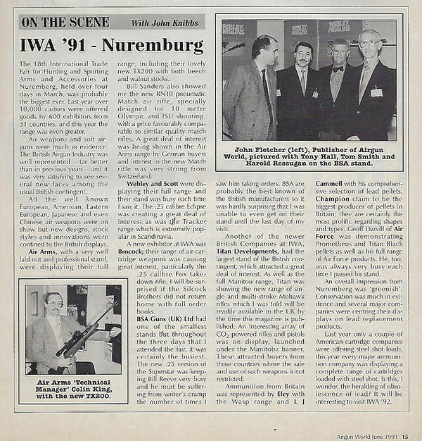 AGW - JUNE 1991 - RN10 IN NEWS SECTION (
