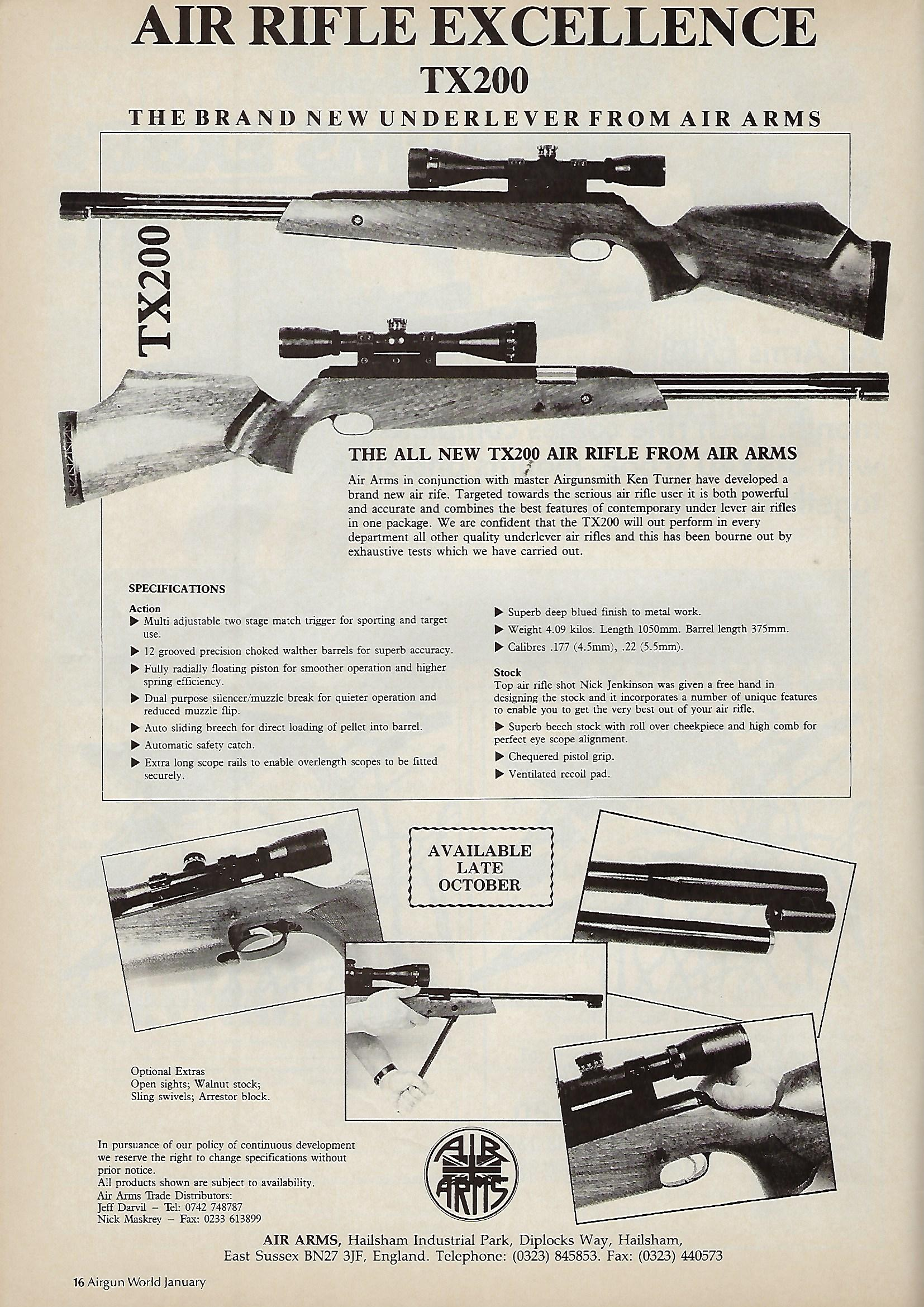 AGW - JANUARY 1992 - AIR ARMS AD FOR TX200.jpg