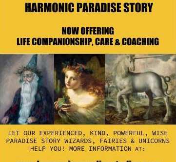 CHURCH OF HARMONIC PARADISE STORY NOW OFFERING LIFE COMPANIONSHIP, CARE & COACHING SERVICES