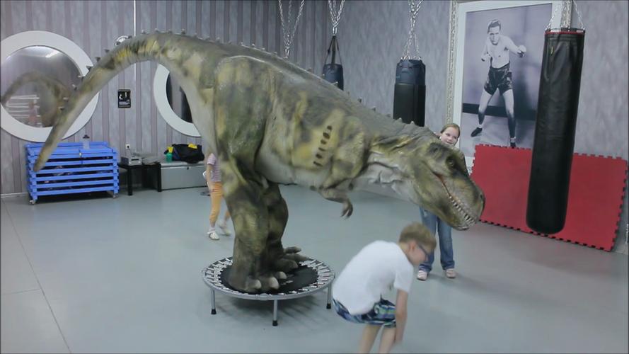 Dino Family на фитнесе