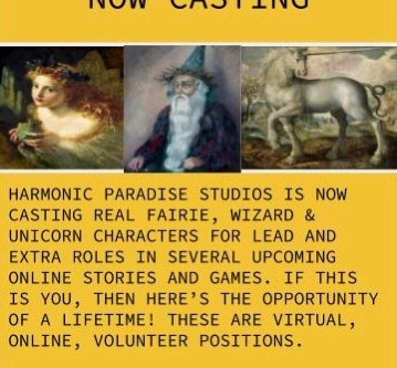 NOW CASTING REAL UNICORNS, FAIRIES & WIZARDS