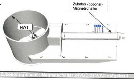 Scheuch-Ligno Pneumatikschieber (verzinkt)