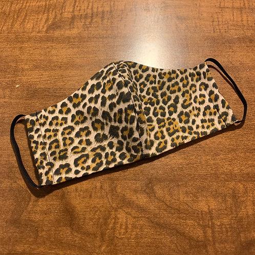 Leopard Print Fabric Face Mask