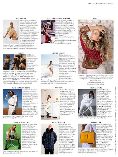 British Vogue Dec 2020 Designer Profile