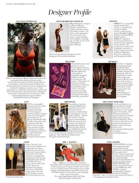 British Vogue Nov 2020 Designer Profile
