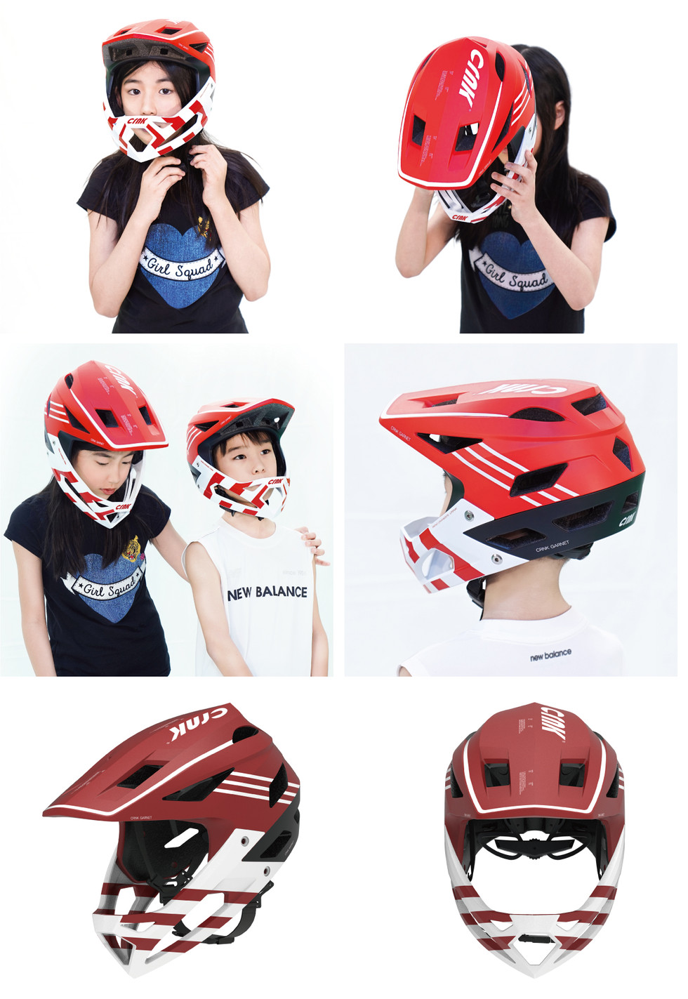 NEW ARRIVALS CRNK YOUTH MTB HELMET <GARNET>