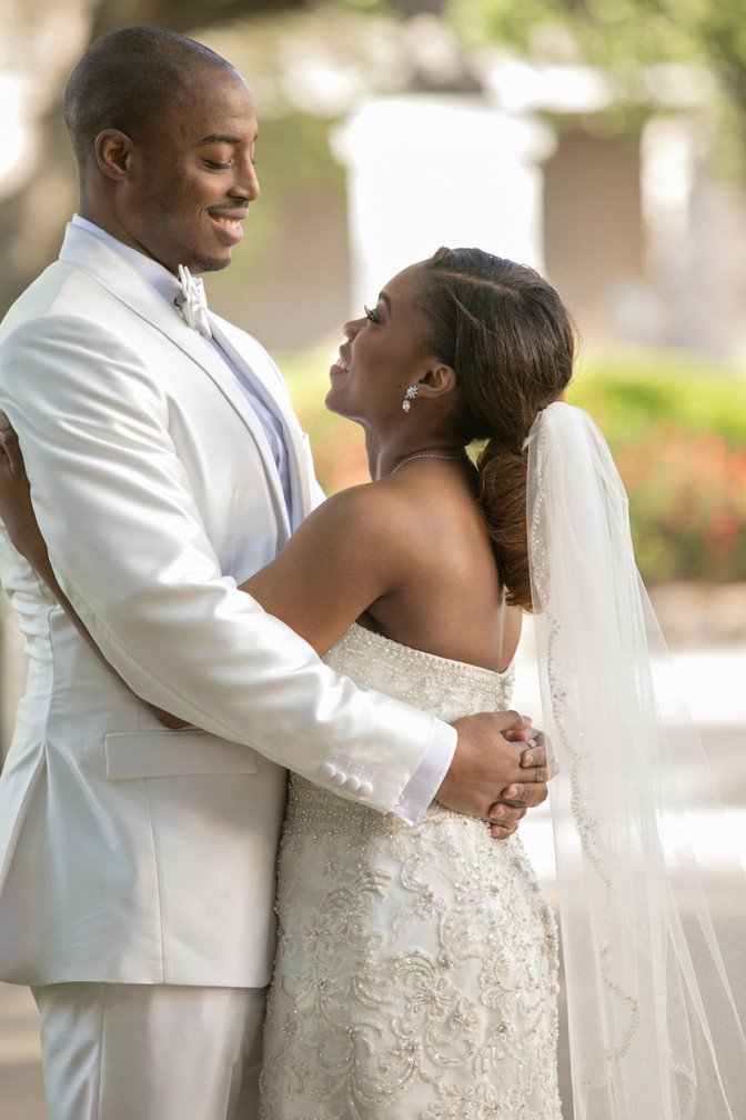Toni and Kenny's All White Wedding