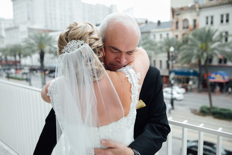 wedding photography, father of the bride, bride, wedding veil, wedding dress, emily sullivan events, wedding planner, destination wedding, new orleans louisiana, southern wedding.