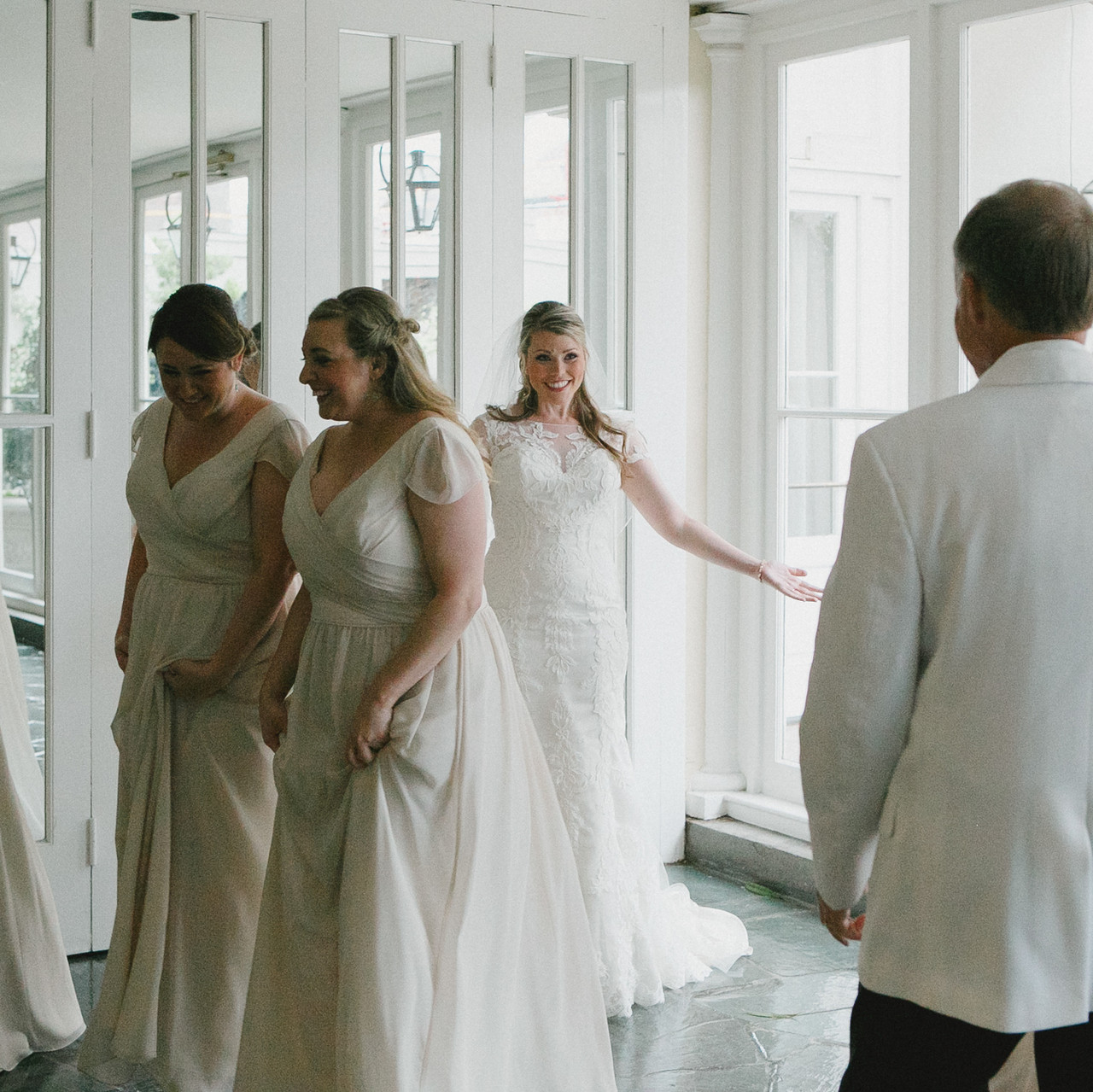Bride and father reveal
