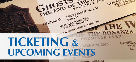 Ticketing for Ghosts of the West