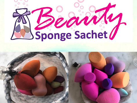 How To Save  Water and Your Sponges With The Beauty Sponge Sachet