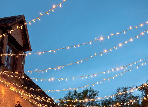 128m Warm White Fairy Lights