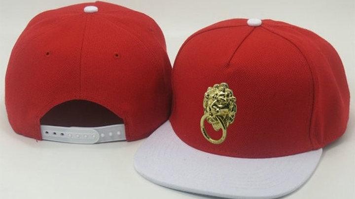 Red- White brim Lion Snapback