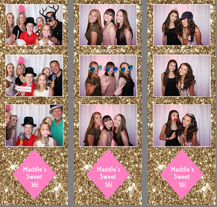 Sweet 16 photo booth lehigh valley