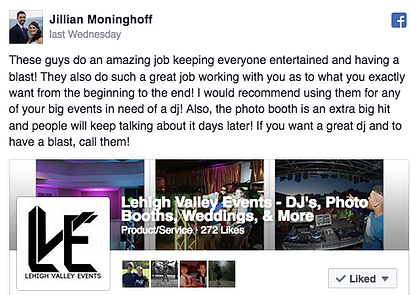 Wedding DJ Review Lehigh Valley