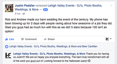 Wedding DJ Review Kutztown Wedding
