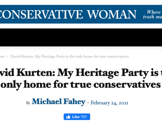 The Heritage Party is the only home for true conservatives