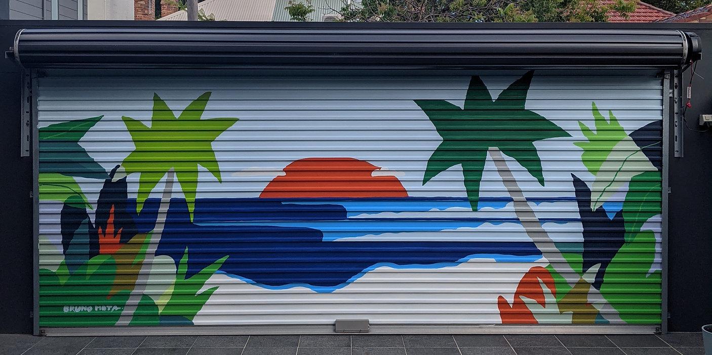 garage door mural alexandria