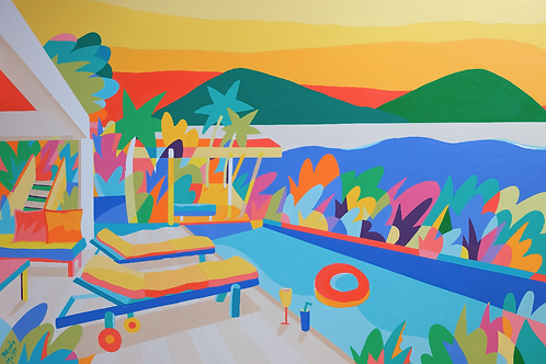 Pool with a View - 122(W) x 84cm(H)