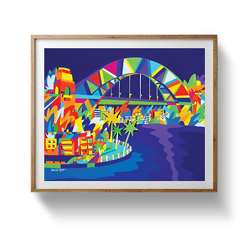 Harbour at Night - UNFRAMED
