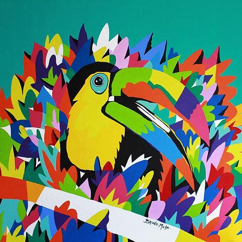 Toucan - 100x100cm