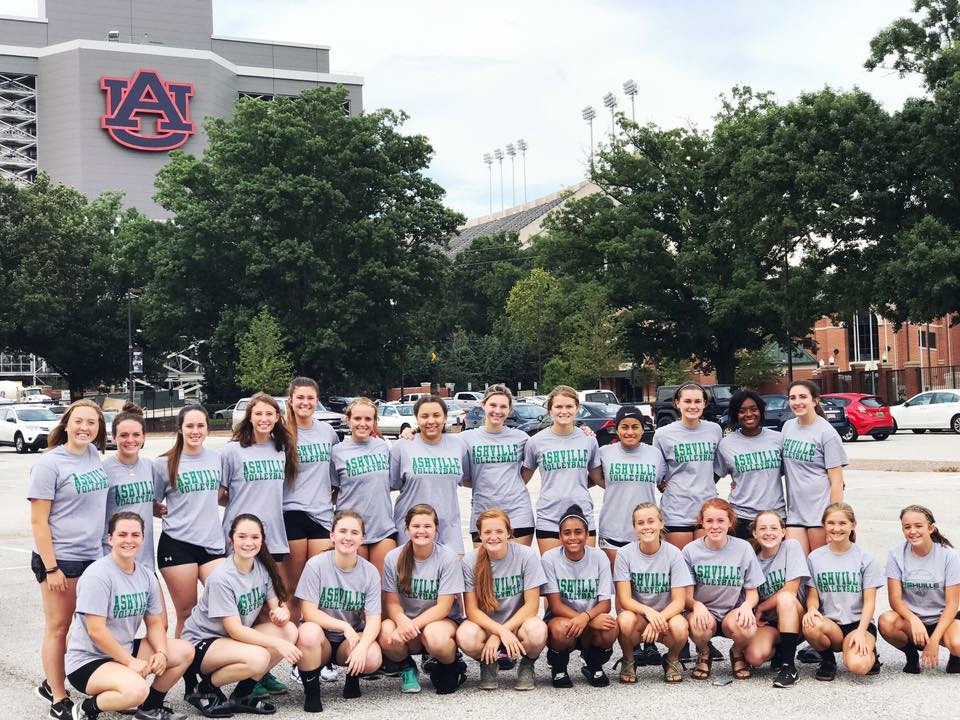Ashville Volleyball in front of Jordan-Hare Stadium - July, 2017