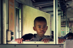Boy on the train