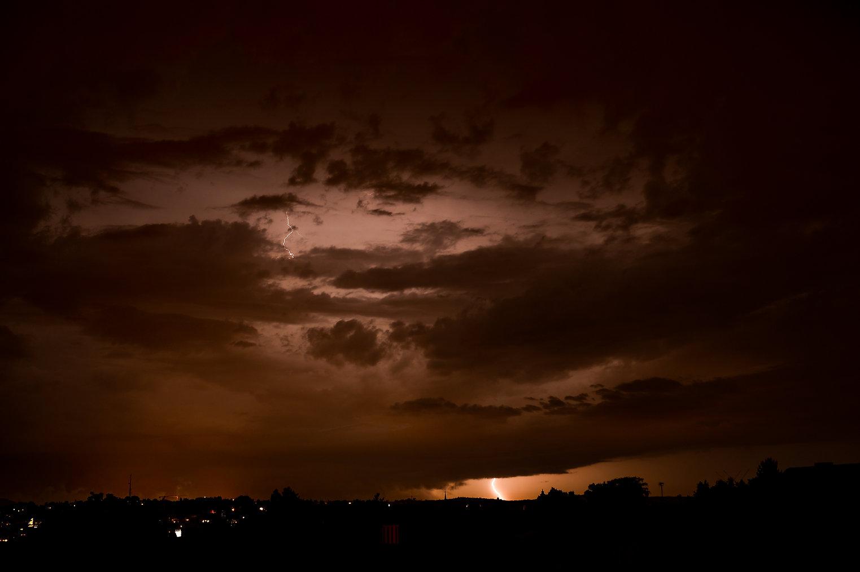 Gewitter am 21.08.2021 in Saarbücken ©Johannes Ratermann