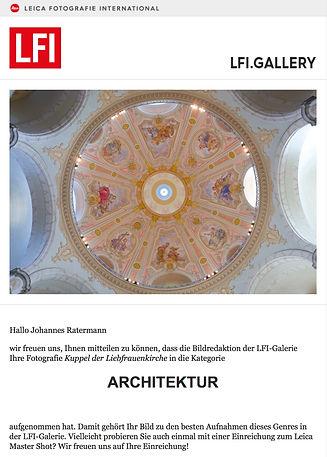 LFI Gallerie Kuppel der Liefrauenkirche
