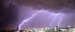 Thunder and Lightning at Johannesburg Airport ©Johannes Ratermann
