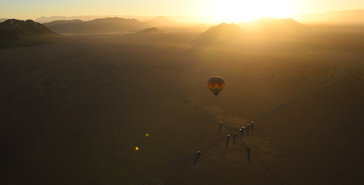 Namib, view from a ballon ©Johannes Ratermann