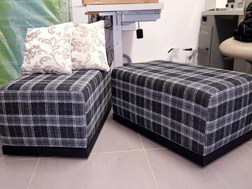 Sitzwürfel gepolstert und bezogen