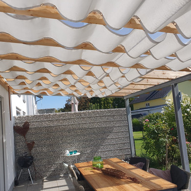 Sonnenschutz für Überdachung individuell genäht
