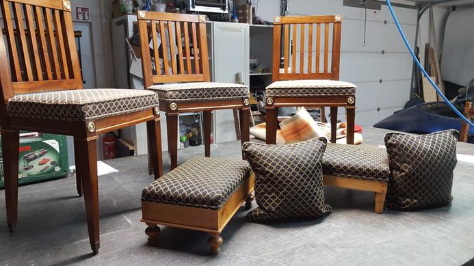 komplett Restaurierung der Stühle