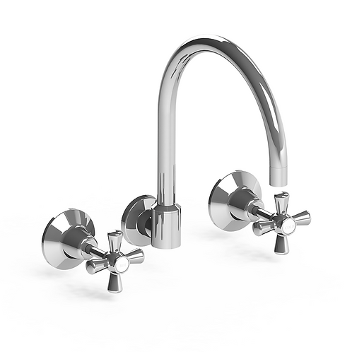 Latilla Wall Sink Set Chrome