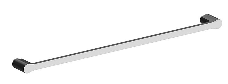 Bassini 750mm Single Towel Rail Black/Chrome