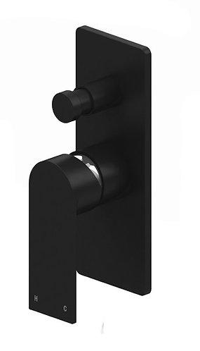 Brunetti Wall Diverter Mixer Black