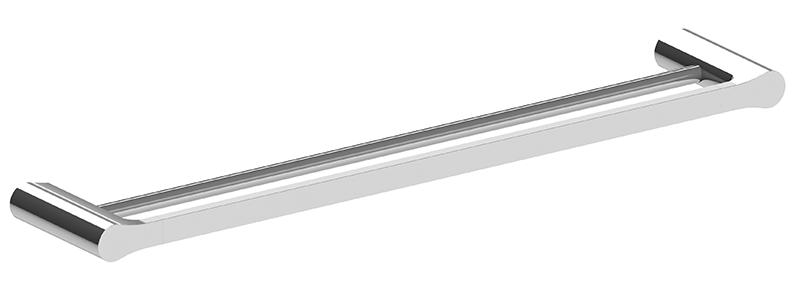 Bassini 600mm Double Towel Rail Chrome
