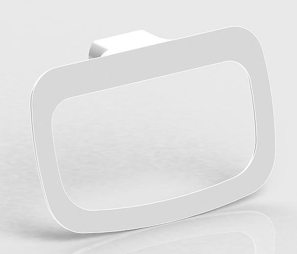 Bassini Towel Ring White/Chrome