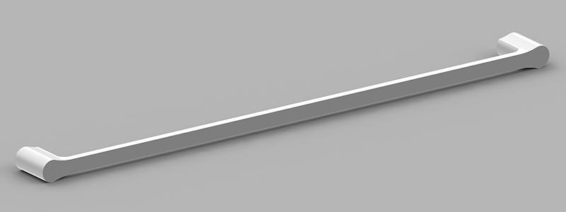 Bassini 750mm Single Towel Rail White/Chrome