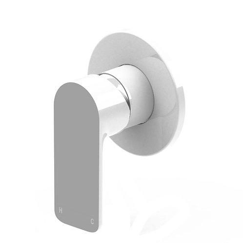 Bassini Wall Mixer White/Chrome