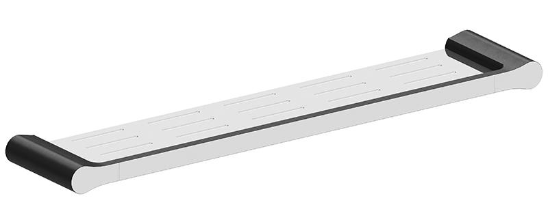 Bassini Metal Shelf Black/Chrome