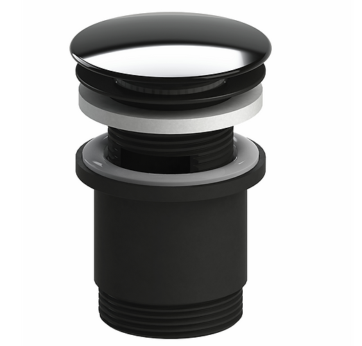 40mm Pop Up Plug & Waste with Overflow Black