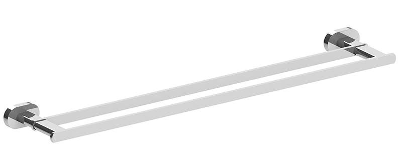 Lento 600mm Double Towel Rail Chrome