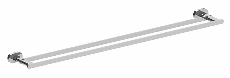 Lento 800mm Double Towel Rail Chrome