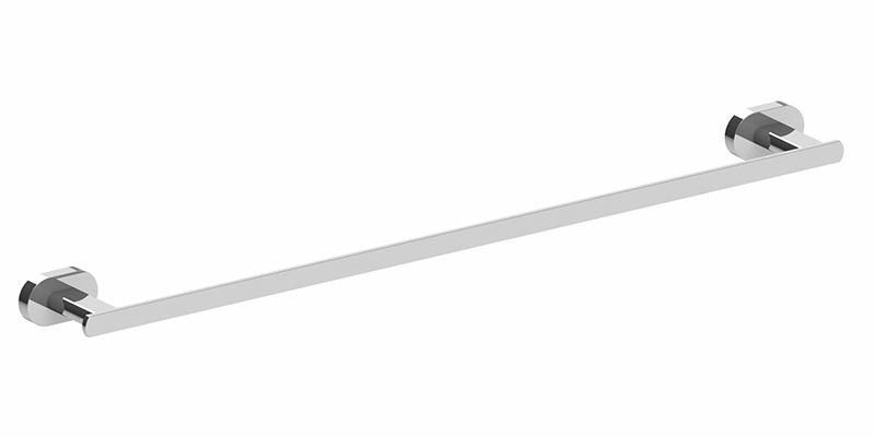 Lento 800mm Single Towel Rail Chrome