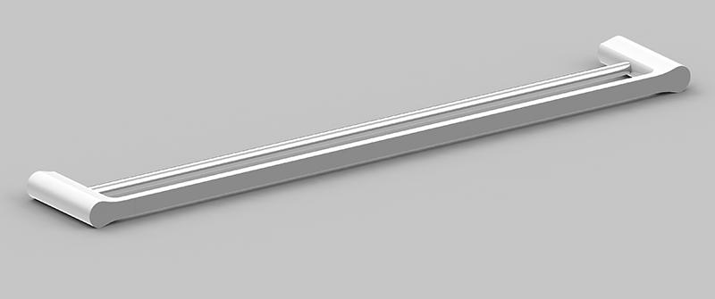 Bassini 750mm Double Towel Rail White/Chrome