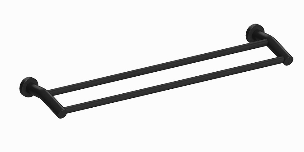 Meno 600mm Double Towel Rail Black
